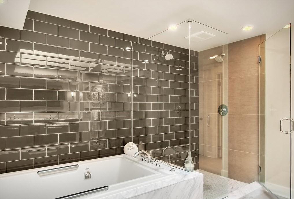 дизайн красивой плитки для ванной