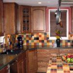 фартук из плитки на кухне интерьер