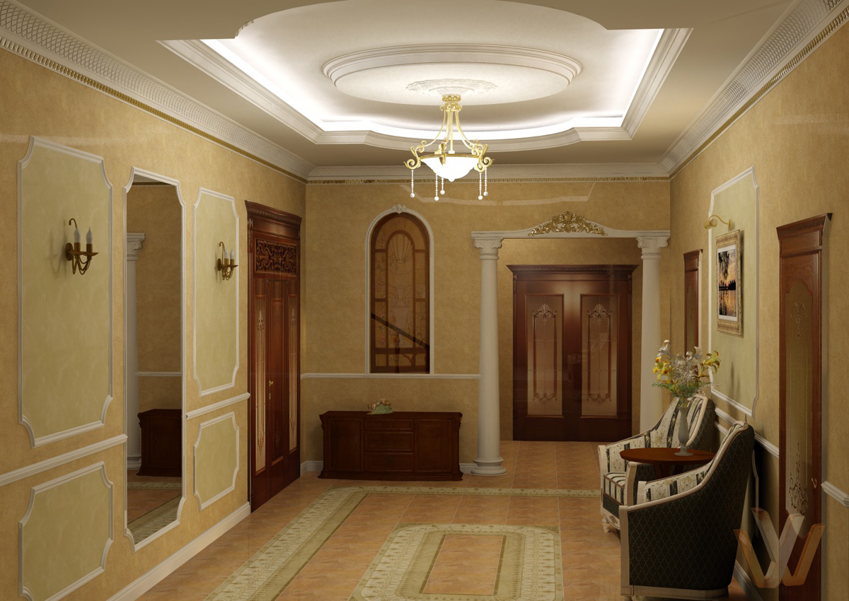 фото и дизайн гипсокартонные потолки в холле высказывания женщинах одна