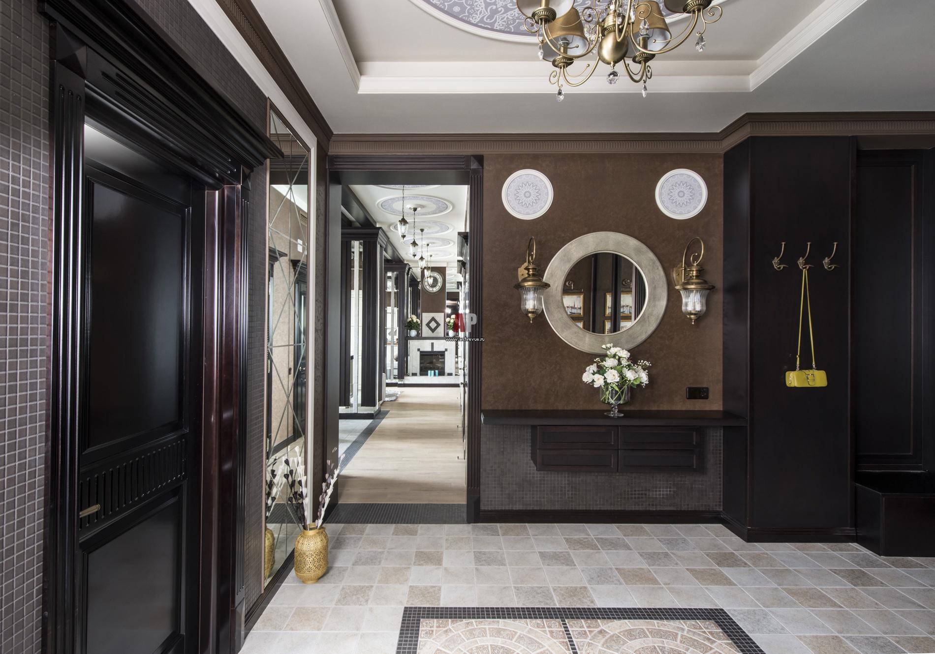 оформление холла в частном доме