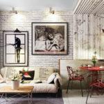 Картины в интерьере гостиной диагональное расположение
