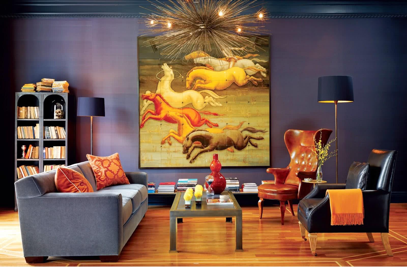 постеры интерьер гостиная фото польской