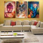 Картины в интерьере гостиной в буддистском стиле