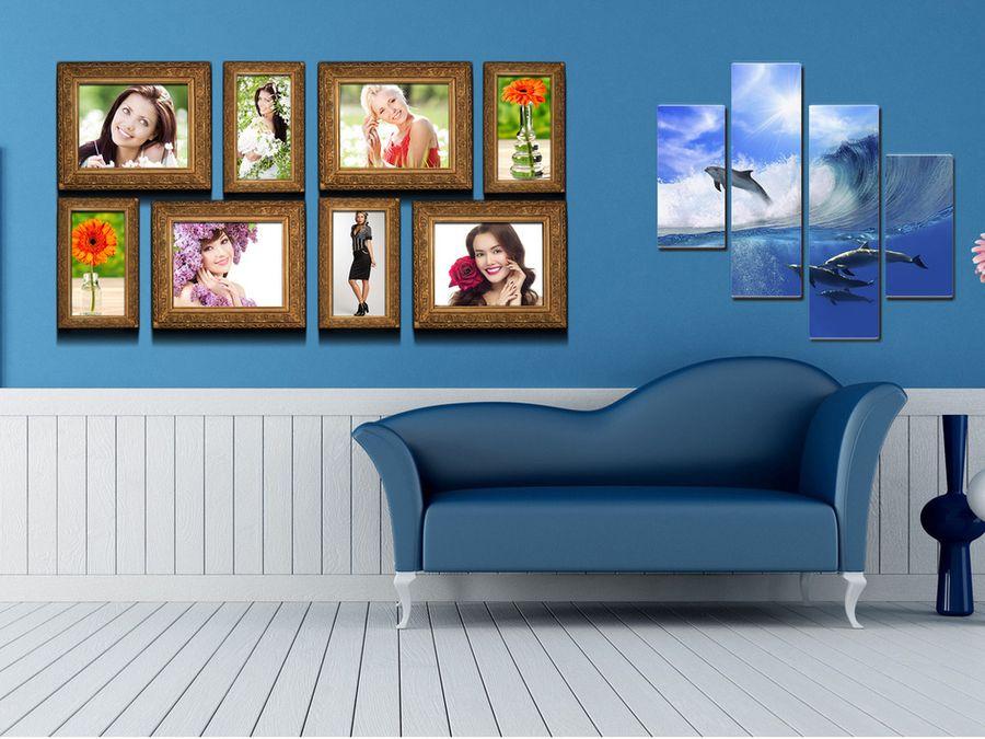 Картины в интерьере гостиной варианты размещения