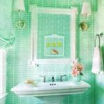 керамическая плитка для ванной зеленая