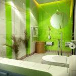 керамическая плитка для ванной зеленая фото