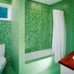 керамическая плитка для ванной зеленая идеи