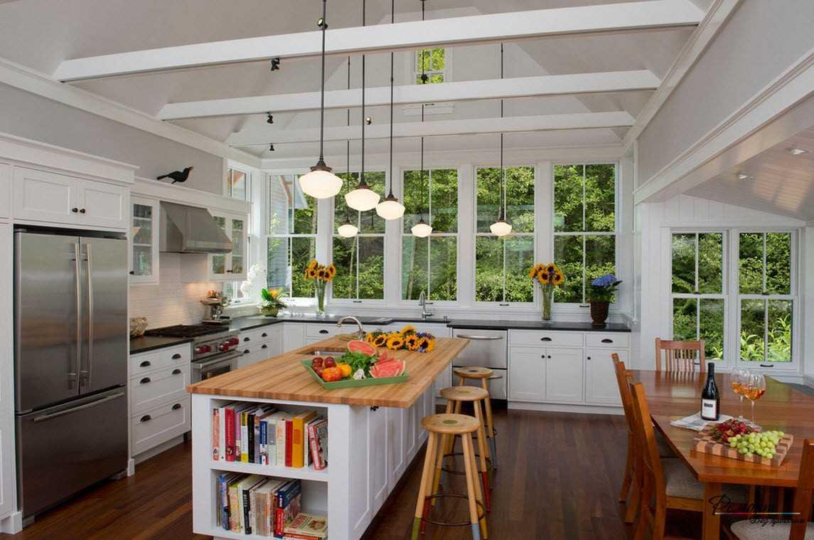 красивый дизайн элитной кухни