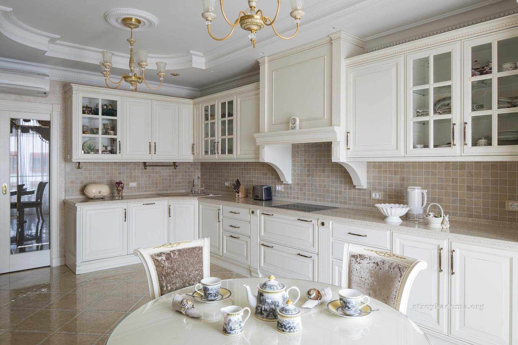 красивый классический дизайн кухни