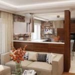 дизайн гостиной кухни 18 м2 дизайн