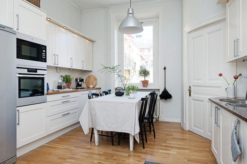 двухрядная планировка кухни гостиной