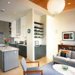 кухня гостиная 18 м2 идеи дизайн