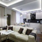 кухня гостиная 18 м2 мебель