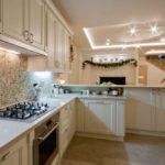 кухня гостиная 18 м2 неоклассика