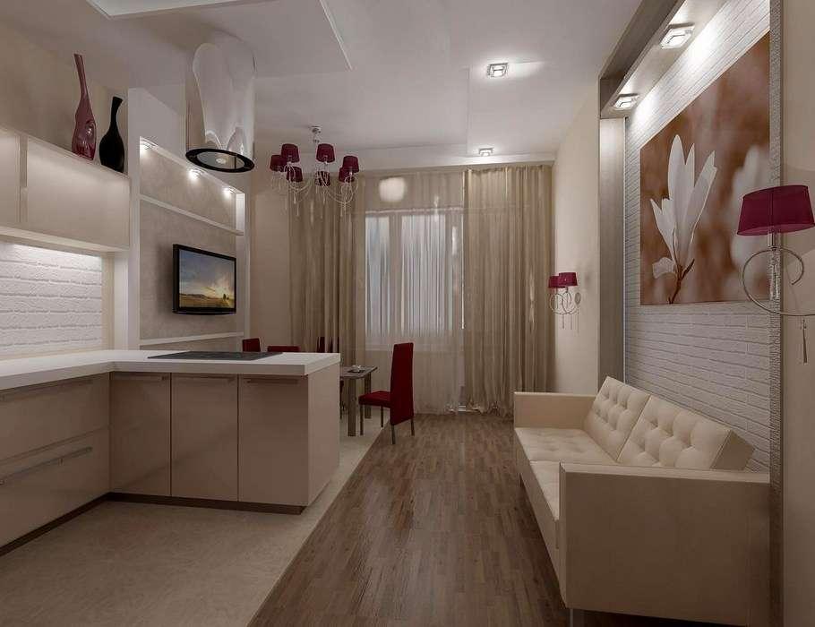 кухня гостиная 18 м2