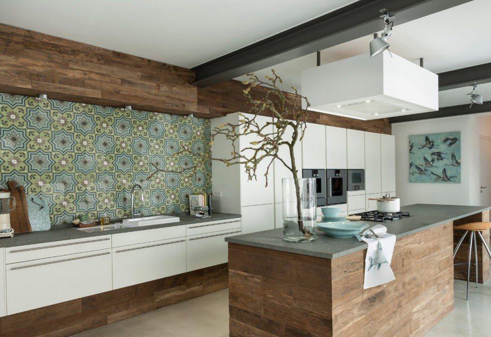 плитка на кухне с узорами