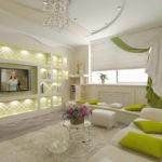 Оформление гостиной комнаты в стиле модерн