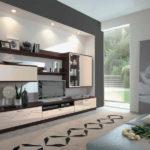Оформление гостиной с нишей для стенки с телевизором