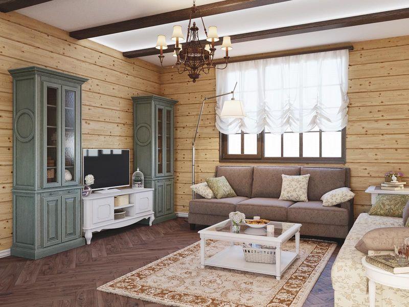 Оформление гостиной стиль прованс
