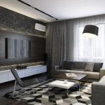 Оформление гостиной в черно-белой цветовой гамме