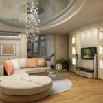 Оформление гостиной в футуристическом стиле