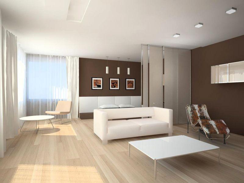 Оформление гостиной в стиле минимализм