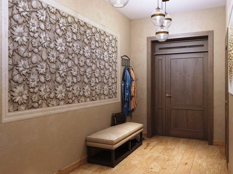 Оформление прихожей отделка стен декоративной штукатуркой