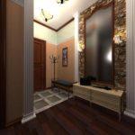 Оформление прихожей в классическом стиле и зеркалом-трюмо