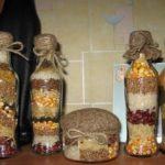 Поделки для кухни своими руками фигурные бутылки с крупами