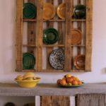 Поделки для кухни своими руками полка для тарелок стиль рустик