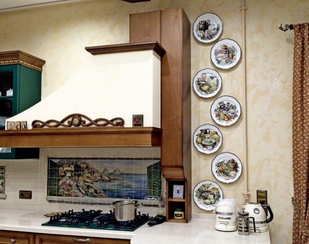 Поделки для кухни своими руками тарелки на стене