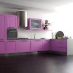 Светлная фиолетовая кухня