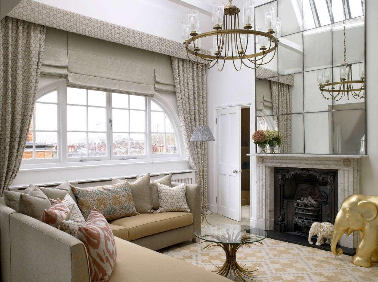 шторы в гостиной идеи дизайна