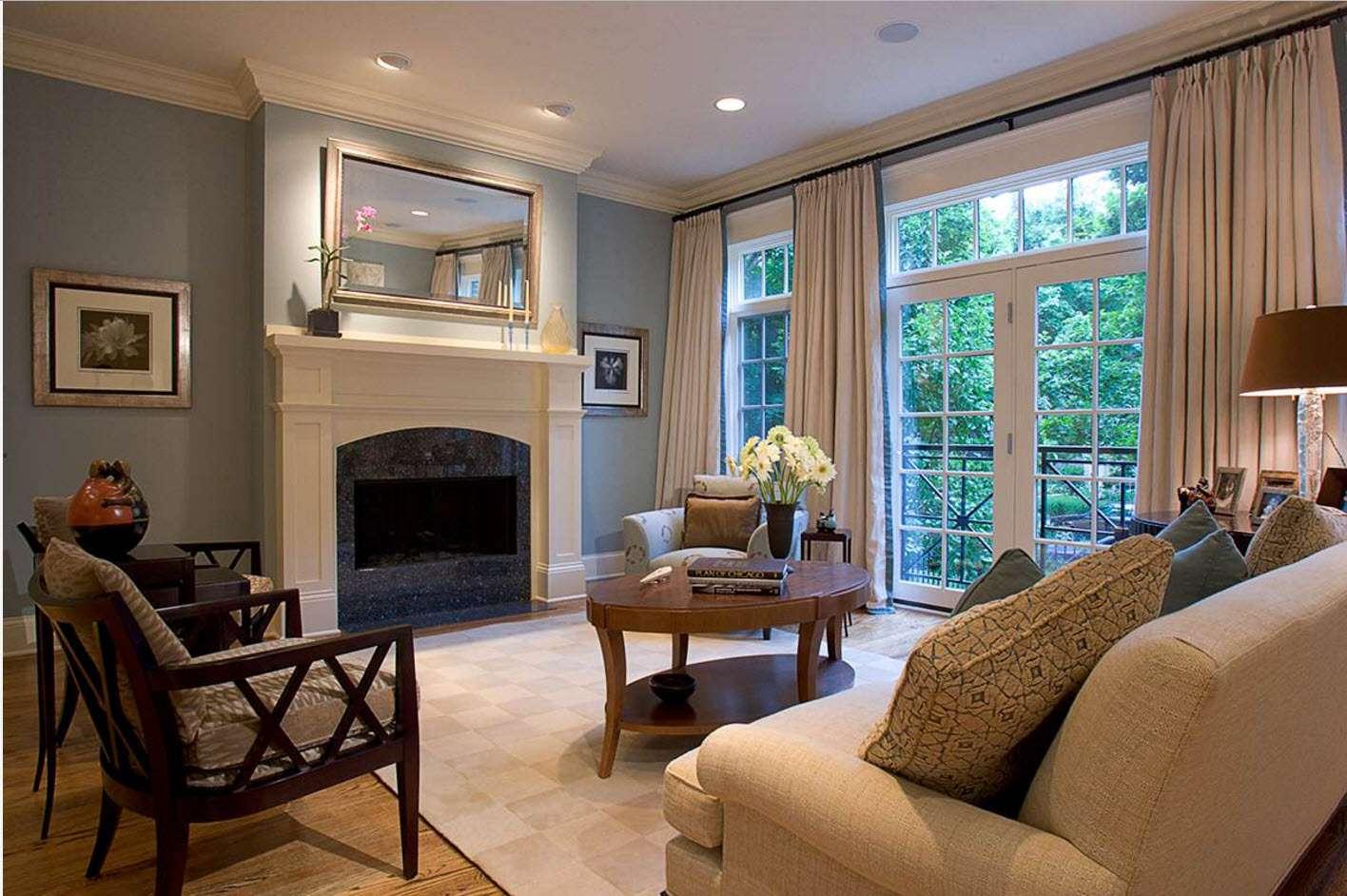 шторы в гостиной фото интерьера
