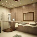 Различные оттенки бежевого для ванной