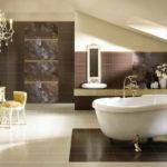 Современный дизайн ванной комнаты арт-деко в мансарде