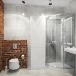 Современный дизайн ванной комнаты хай-тек и лофт