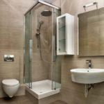 Современный дизайн ванной комнаты минимализм и хай-тек в маленьком пространстве
