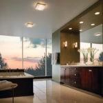 Современный дизайн ванной комнаты отделка деревом и кафельный пол.jpg