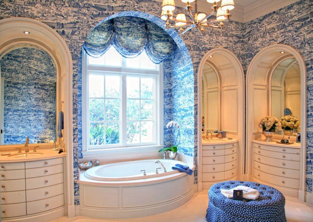 современный дизайн ванной комнаты в этническом стиле