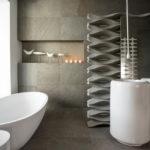 Современный дизайн ванной комнаты в футуристическом стиле