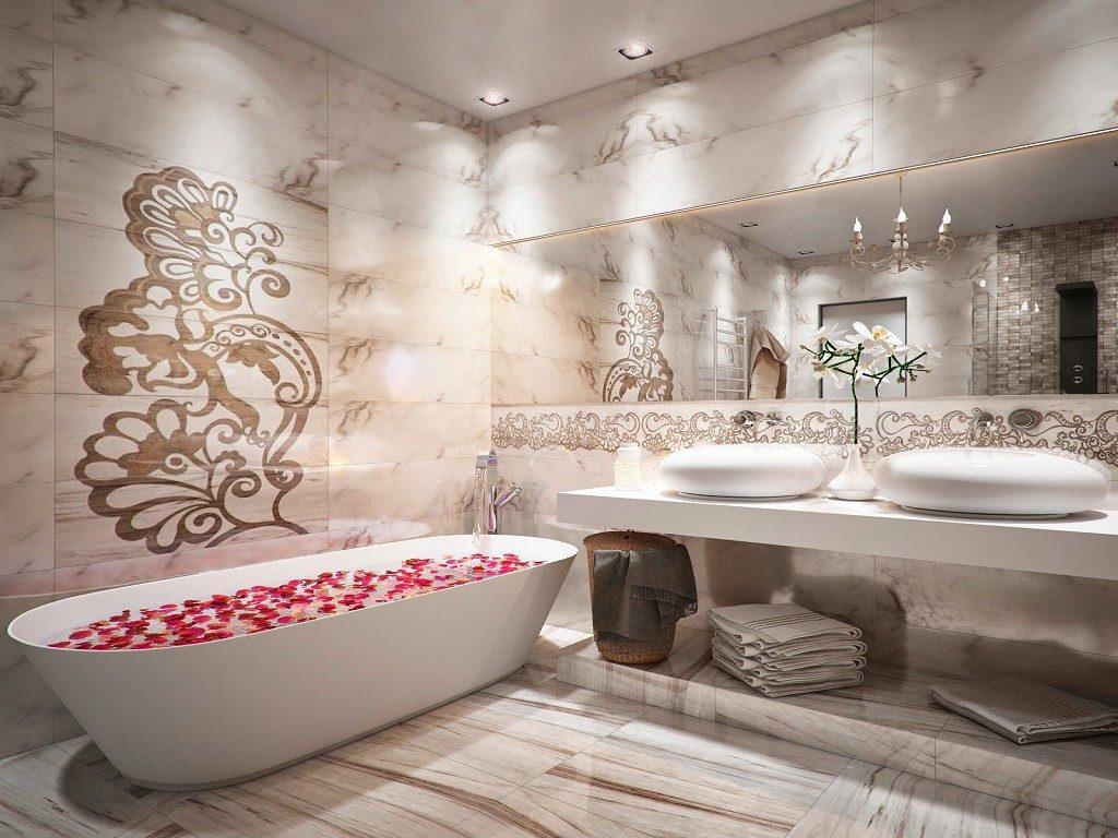 современный дизайн ванной комнаты в стиле модерн