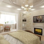 спальня с балконом дизайн идеи