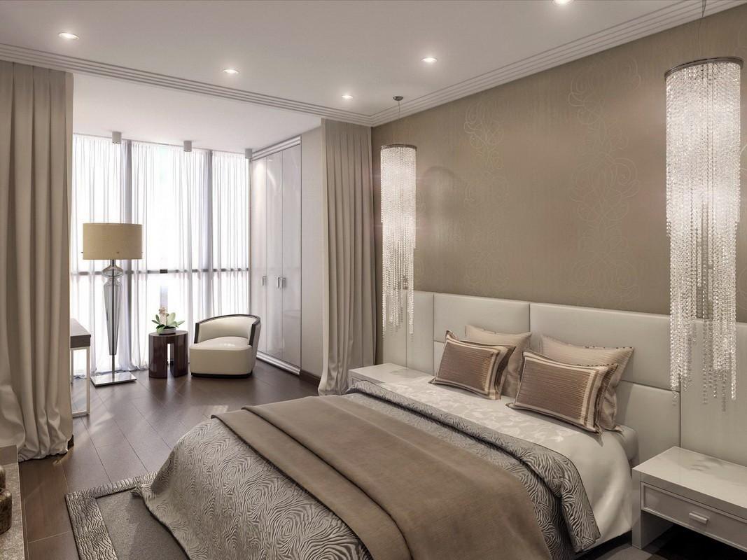 Спальня в бежевых тонах дизайн фото