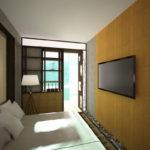 спальня с балконом фото интерьер
