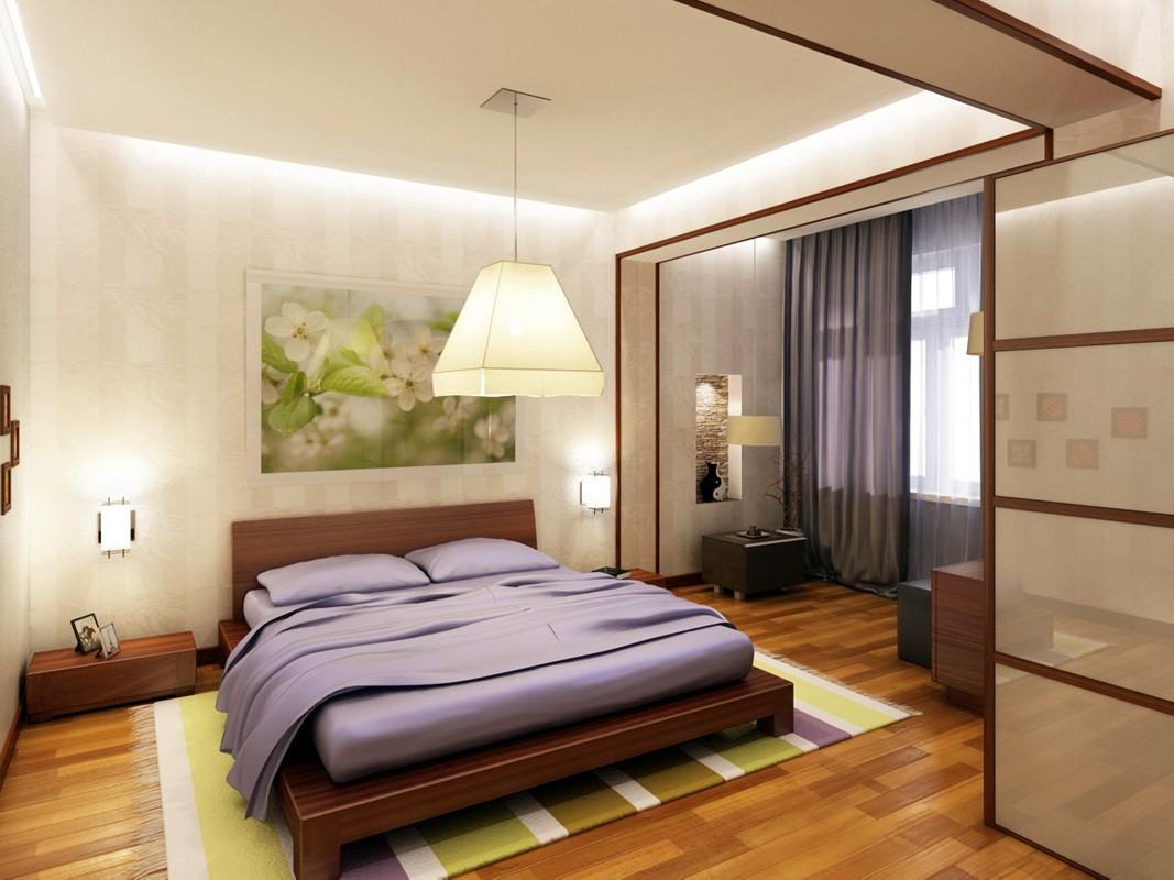 дизайн спальни с балконом в квартире фото увы