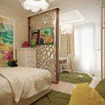 спальня с балконом современный интерьер