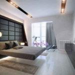 спальня с балконом стильный интерьер