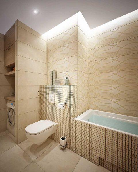 Оригинальный свет для ванной комнаты