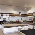 элитный дизайн кухни сочетание оттенков